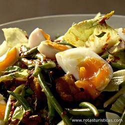 Mackerel And Green Bean Salad With Harissa Dressing